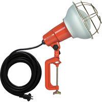 ハタヤリミテッド ハタヤ 防雨型作業灯 リフレクターランプ300W 100V電線5m バイス付 RE305 1台 106ー1976 (直送品)