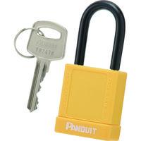 パンドウイットコーポレーション ロックアウト用パドロック 軽量タイプ 黄 PSL8YL 1個 362ー1553 (直送品)