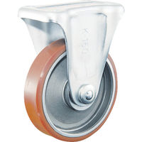 イノアック車輪 イノアック 中荷重用キャスター ログラン 固定金具付 Φ75 P75WK 1個 384ー7438 (直送品)