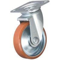 イノアック車輪 イノアック 中荷重用キャスター ログラン 旋回金具付 Φ250 P250WJ 1個 384ー7373 (直送品)