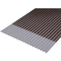 アイリスオーヤマ IRIS 軽量ポリカ波板6尺 NIPCー605ブロンズ NIPC605BZ 1枚 384ー5869 (直送品)