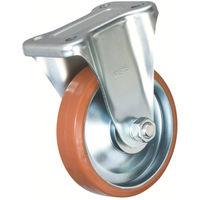 イノアック車輪 イノアック 中荷重用キャスター ログラン 固定金具付 Φ100 P100WK 1個 384ー7233 (直送品)