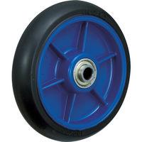 イノアック車輪(INOAC) 低始動抵抗キャスター 車輪のみ Φ150 黒 LR-150W-BK 1個 384-7161 (直送品)