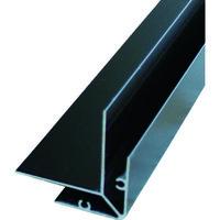 アルインコ アルインコ 波板用コーナー見切(両) 2.4M ブラック BA173K 1本 384ー7659 (直送品)