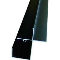 アルインコ(ALINCO) 波板用前枠 2.4M ブラック BA171K 1本 384-7616 (直送品)