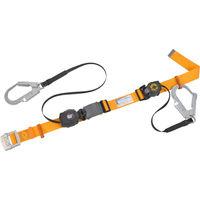 胴ベルト型 1本吊り タイタン 2丁掛安全帯巻取式軽量型 両端巻取り式 イエロー SL505R503HYL 376-5938 SANKO(サンコー) (直送品)