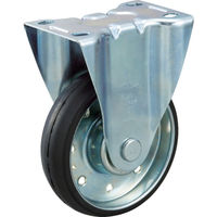 トラスコ中山(TRUSCO) ハイテンプレス製ゴム車 固定金具付 φ150 HTTK-150 1個 392-5765 (直送品)