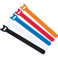 トラスコ中山 TRUSCO マジックバンド 超薄型 ストラップ 幅25mm×長さ20cm 白 MKSH2520W 1セット(5本) 389-7419 (直送品)