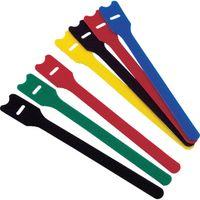 トラスコ中山 TRUSCO マジックバンド ストラップ 幅25mm×長さ20cm 緑 MKS2520GN 1セット(4本) 389-7397 (直送品)