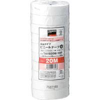 トラスコ中山 TRUSCO 脱鉛タイプ ビニールテープ 19X20m ホワイト 10巻入り TM1920W10P  375ー9385 (直送品)