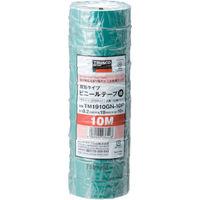 トラスコ中山 TRUSCO 脱鉛タイプ ビニールテープ 19X10m グリーン 10巻入り TM1910GN10P  375ー9547 (直送品)