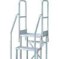 TRUSCO(トラスコ中山) アルミ 作業用踏台用手すり H900 階段両手すり TSF-369・461 TSFTE4 1セット 381-7741 (直送品)