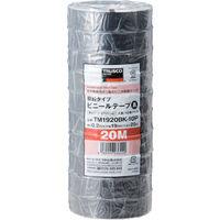 脱鉛タイプ ビニールテープ 19X20m 黒 10巻入り TM1920BK-10P 1パック(200m) 375-9342 (直送品)