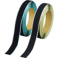 トラスコ中山 TRUSCO マジックテープ 弱粘着タイプ 幅50mm×長さ5m 黒 TPD505MTSBK 1セット 389-7184 (直送品)
