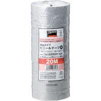 トラスコ中山 TRUSCO 脱鉛タイプ ビニールテープ 19X20m グレー 10巻入り TM1920GY10P  375ー9351 (直送品)