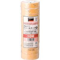 トラスコ中山 TRUSCO 脱鉛タイプ ビニールテープ 19X10m イエロー 10巻入り TM1910Y10P  375ー9539 (直送品)
