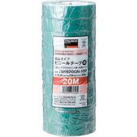 トラスコ中山 TRUSCO 脱鉛タイプ ビニールテープ 19X20m グリーン 10巻入り TM1920GN10P  375ー9407 (直送品)
