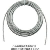トラスコ中山 TRUSCO 手動ウインチ用ワイヤーΦ6X10m用(切りっ放し) WW610 1本 392ー5498 (直送品)