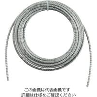トラスコ中山 TRUSCO 手動ウインチ用ワイヤーΦ6X5m用(切りっ放し) WW65 1本 392ー5510 (直送品)