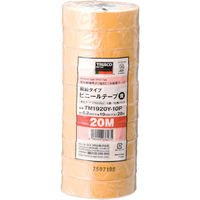 トラスコ中山 TRUSCO 脱鉛タイプ ビニールテープ 19X20m イエロー 10巻入り TM1920Y10P  375ー9393 (直送品)