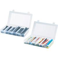 パンドウイットコーポレーション(PANDUIT) 熱収縮チューブ キットボックス サイズコンビネーション 黒 KP-HSTT1 390-8054 (直送品)
