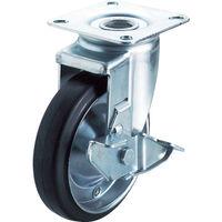 ユーエイキャスター(YUEI CASTER) 産業用キャスターS付自在車 150径ゴム車輪 WJ2-150S 1個 379-8089 (直送品)
