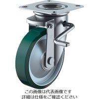 新型プレスキャスター右S付自在車 150径ウレタン車輪 PMS-150UWBLB(R) 380-3261 (直送品)