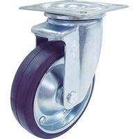 ユーエイキャスター(YUEI CASTER) 新型プレスキャスター自在車 150径ゴム車輪 PMS-150WB 1個 380-3279 (直送品)