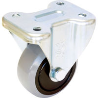 ユーエイキャスター ユーエイ 産業用キャスター固定車 75径ナイロンホイルウレタン車輪 GUK75 1個 379ー6795 (直送品)