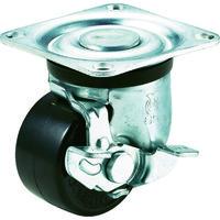 ユーエイキャスター(YUEI CASTER) 重量用キャスターS付自在車 65径フェノール車輪 HG-65PBS 1個 379-6833 (直送品)