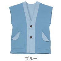 かる~いベスト ブルーM 5610 日本エンゼル (直送品)