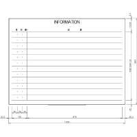 日学 ホワイトボード罫引 INFORMATION LT-12-024 (直送品)