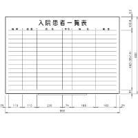 日学 ライトフレームホワイトボード罫引入院患者一覧表 LT-13-034 (直送品)