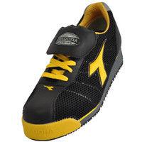 ドンケル R209004011 ディアドラ安全作業靴 キングフィッシャーKFー25 黒&イエロー 26.0cm 1足 (直送品)
