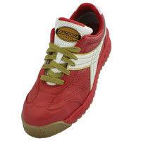 ドンケル R209014810 ディアドラ安全作業靴 ピーコック PCー31赤&ホワイト 25.5cm 1足 (直送品)