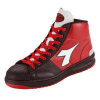 ドンケル R209014908 ディアドラ安全作業靴 エミュー EMー213黒&ホワイト&レッド 24.5cm 1足 (直送品)