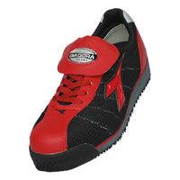 ドンケル R209012309 ディアドラ安全作業靴 キングフィッシャーKFー32 赤&ブラック 25.0cm 1足 (直送品)