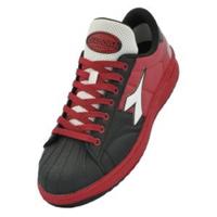 ドンケル R209014405 ディアドラ安全作業靴 キーウィ KWー213黒&ホワイト&レッド 23.0cm 1足 (直送品)