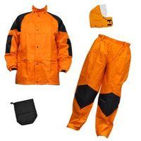 R9473803724 雨衣 Fー8300 橙 LL クリティカルハード 1着 福徳産業 (直送品)