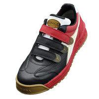 ドンケル R209016214 ディアドラ安全作業靴 ロビン RBー213黒&ホワイト&レッド 27.5cm 1足 (直送品)
