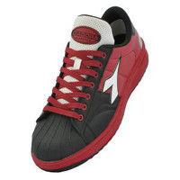 ドンケル R209014410 ディアドラ安全作業靴 キーウィ KWー213黒&ホワイト&レッド 25.5cm 1足 (直送品)