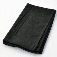 R9473803921 綿ガーゼロングタオル FTー265 黒 1セット(10袋入) 福徳産業 (直送品)
