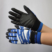 R9448001005 作業手袋 ノンスリップライトPパターン 甲メリ 青L 1セット(5双入) 福徳産業 (直送品)