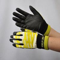 R9448001008 作業手袋 ノンスリップライトPパターン 甲メリ 黄L 1セット(5双入) 福徳産業 (直送品)