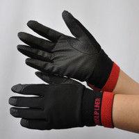 R9448001011 作業手袋 ノンスリップライトPパターン 甲メリ 黒M 1セット(5双入) 福徳産業 (直送品)