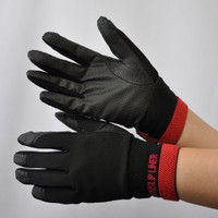 R9448001012 作業手袋 ノンスリップライトPパターン 甲メリ 黒L 1セット(5双入) 福徳産業 (直送品)