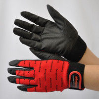R9448001101 作業手袋 ノンスリップライトPパターン マジック赤 M 1セット(5双入) 福徳産業 (直送品)
