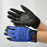 R9448001104 作業手袋 ノンスリップライトPパターン マジック青 M 1セット(5双入) 福徳産業 (直送品)