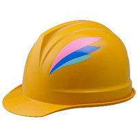 ミドリ安全 デザインヘルメット ABS ウィング&イエロー 頭囲/55cm~62cm 1個 4001504201 (直送品)