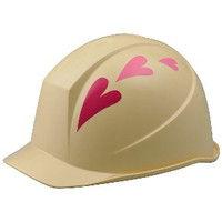 ミドリ安全 デザインヘルメット ハート&クリーム ABS 頭囲/55cm~62cm 4001501119 1個 (直送品)